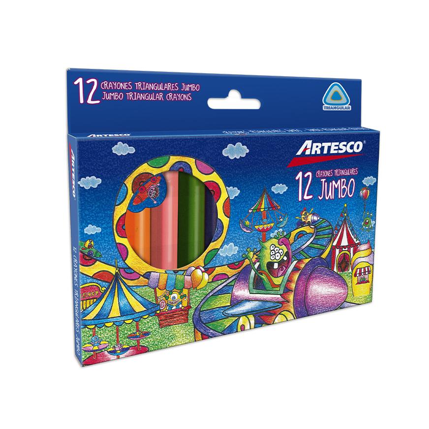 Crayones Triangulares Jumbo x 12 unds.
