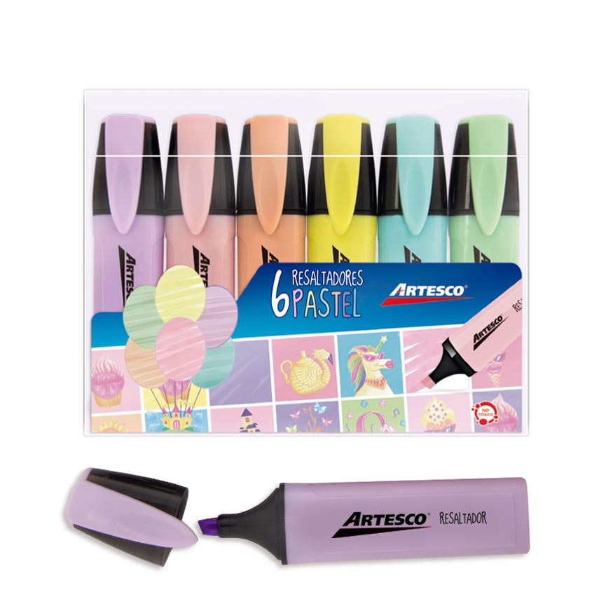 Resaltador Pastel x 6